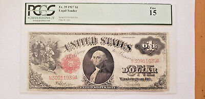 1917 $1 Legal Tender Note PCGS Fine 15 Red Seal