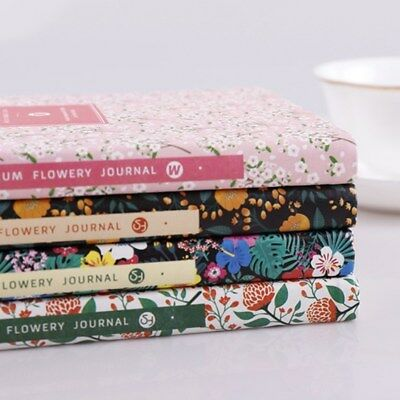 Flowery Weekly Monthly Planner Diary Journal Notebook Calendar Organizer Gift