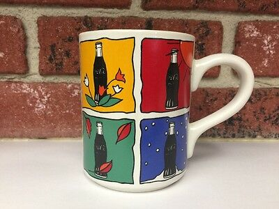 Coca-Cola Four Seasons Collectible Coffee Mug Gibson 1997 Summer Winter Fall