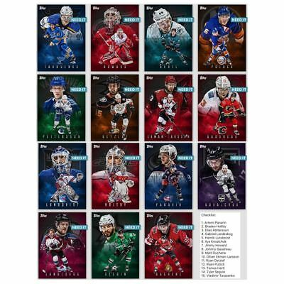 18-19 POSTERS WAVE 2 SET OF 15 (150cc) LUNDQVIST++++  Topps NHL Skate Digital