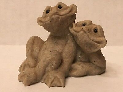 Quarry Critters Fric & Frac Frog  2000 Second Nature Design couple