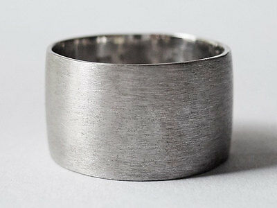 Sovats 925 Sterling Silver Big Band Tube Rings Girl Women Minimal Ring Size 5-12