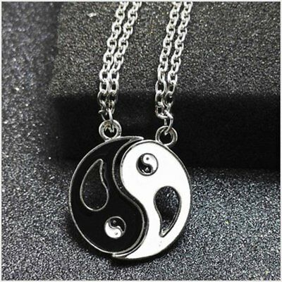 Tai Chi Ba Gu Yin Yang Pendant Couple Necklace 0941 HUFZPG