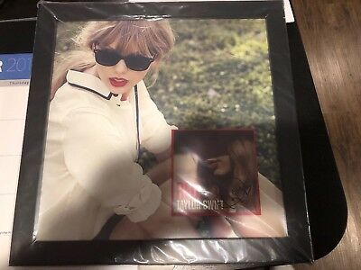 Taylor Swift Autographed Framed Red Album Lithograph & CD Cover Art