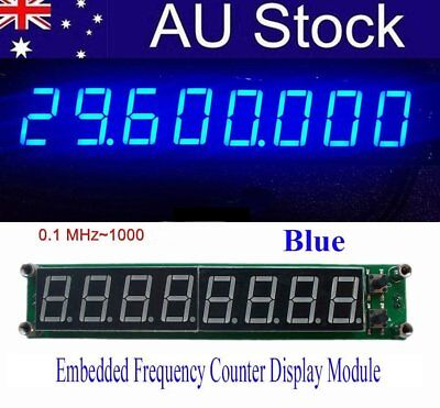 2017 PLJ-8LED-H RF Signal Frequency Counter Cymometer Tester Module 0.1~1000MHL3