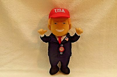 President Donald J. Trump Talking Soft Plush Doll Limited Edition Collectible