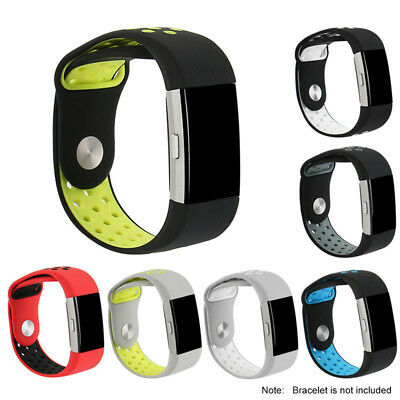 Soft Silicone Replacement Strap Band Bracelet Wristband For FITBIT CHARGE 2 New