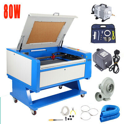80W Co2 USB Port Engraving Cutting Machine 700x500mm Cutter FDA w/ Water Chiller