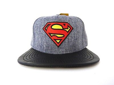 best loved bef9b f411d Superman Justice League DC Comics Embroidered Mens New Snapback Hat Cap
