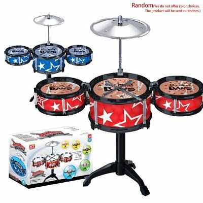Simulation Musical Instrument Jazz Drum Kit Musical Shelf Educational TQ0