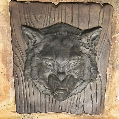 Concrete Mold Wolf Head 2pcs