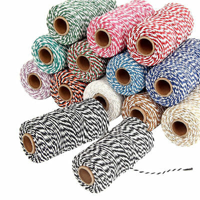 15 Colors Striped String Stripe Cotton Bakers Twine Christmas Tags Gifts Crafts
