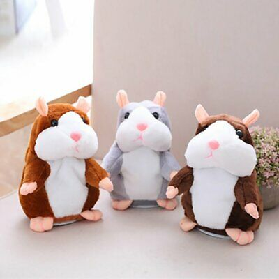 Talking Hamster Cute Nod Mouse Record Chat Mimicry Pet Plush Toy Xmas Gift EA