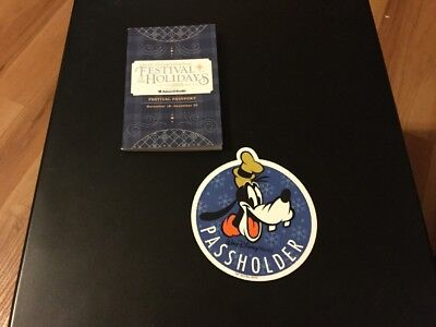 NEW Disney Goofy Annual Passholder  Magnet &  Festival Of The Holidays Passport