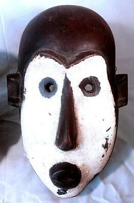 Authentic African Tribal Mask Native Fang Ngil Mask White Face Gabon African Art