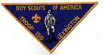 Boy Scouts of America Troop 159 Lexington Large Triangle Patch 1960's