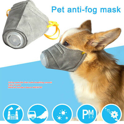 3Pcs/Set Pet Dog Mask PM2.5 Filter Anti Dust Mask Protective Mouth Cover Outdoor