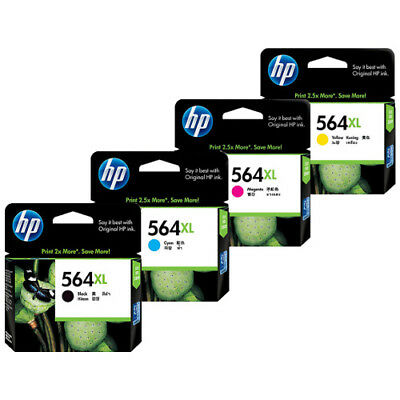 HP 564XL INK CARTRIGES (4x INKS BLK/C/M/Y) COMBO PACK - NEW/SEALED