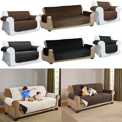 Quilted Sofa Arm Chair Settee Pet Protector Slip Cover Furniture Cushion Throws