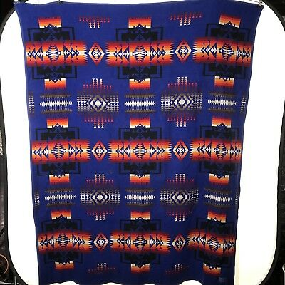 Pendleton Woolen Mills Blanket Beaver State Oregon Made USA Vintage