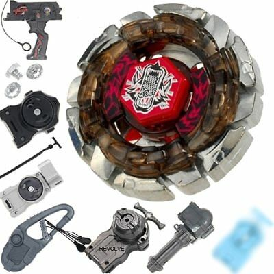 HOT Dark Wolf DF145FS Metal Fusion 4D Beyblade STARTER SET w/ Launcher & Ripcord
