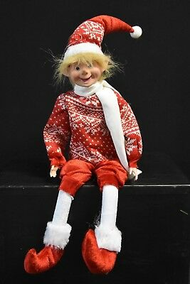 Christmas Elf Doll. 58cm Tall. Red and White.