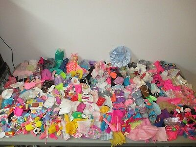 550+ Piece HUGE Variety Lot of Clothes, Accessories, Shoes. Fits Barbie & MORE