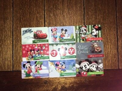 "Disney Gift Cards ""NO VALUE"" Lot of 9 Reloadable Christmas Mickey Minnie"