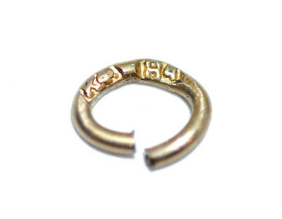 Antique Signed КФ Karl Faberge 84 Silver Jump Ring, for Charm Repair Replacement