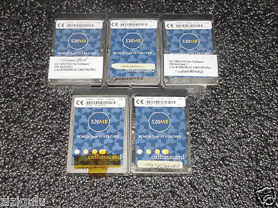 LOT 5 Callunacard P/N : CT520RM 520MB PC ATA Card PCMCIA /PHONE ,NORTEL,ETC