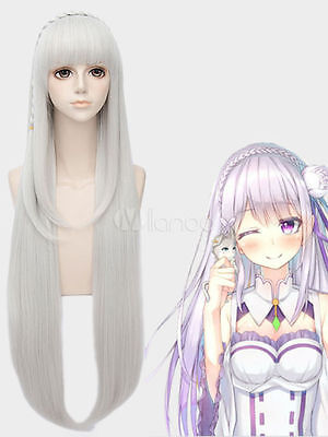 Anime Re Zero Starting Life In Another World Cosplay Wigs Echidna Cosplay Wig Heat Resistant Synthetic Wig Hair Halloween Party Novelty & Special Use