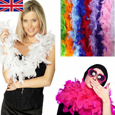 2M Feather Boa Strip Fluffy Craft Costume Fancy Dress Wedding Party Hen Night