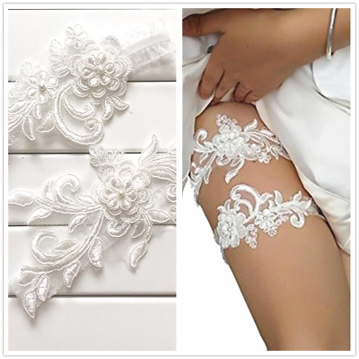 AU Womens Lady Bride Wedding Garters Elastic Lace Garter For Party Masquerade
