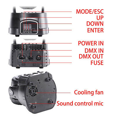 70W RGBW LED Moving Head Stage Light 7 Led Lamp DMX512 Disco Party Par W/ Remote