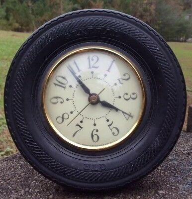 Antique General GTR Rubber Tire Clock~Movement By Sessions