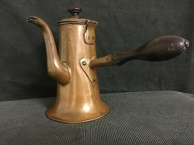 Antique Arts And Crafts English Copper Chocolate Side Pour Pot
