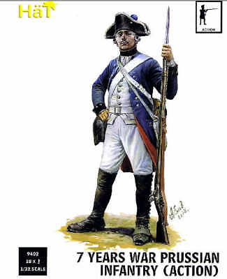 Hat 1/32 7 Years War Prussian Infantry (Action) # 9402