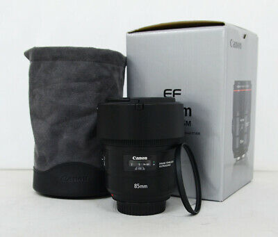 - Mint - Canon EF 85mm f/1.4L IS USM Lens w/filter,pouch