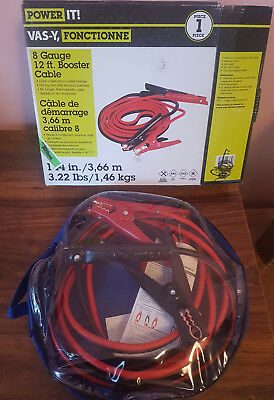 Power It 12 ft 8 Gauge Car Battery Booster Jumper Cable - 5 units!