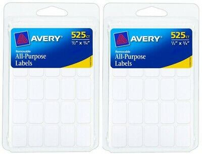 AVERY 6737 - Removable All-Purpose Labels Rectangular White - 525 Count