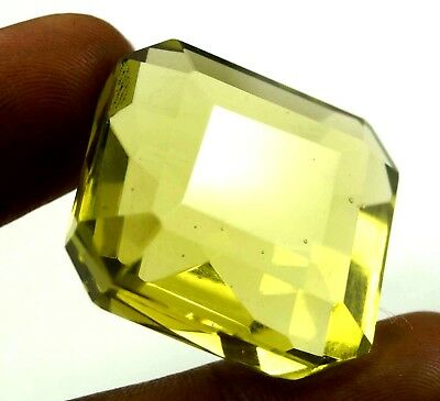 GGL Certified 94.00 Ct Remarkable Lemon Citrine Emerald Cut Gem Christmas Offer