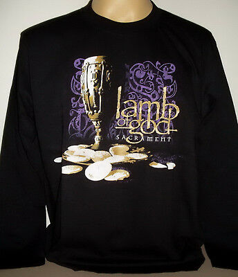 Lamb Of God Sacrament Long Sleeve T-Shirt Size 3XL XXXL New! Metal Band