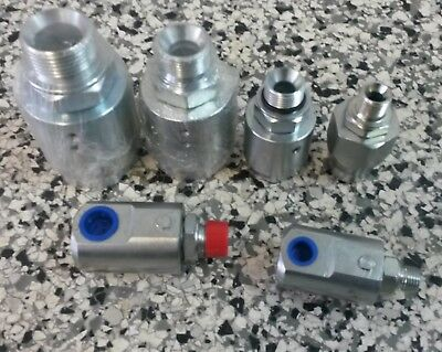 """Swivel Coupler High Pressure Hydraulic Straight & 90° 3000Psi 1/4"""" ,to 1"""" Bspp"""