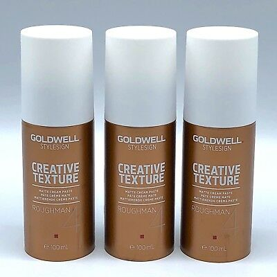 3 x Goldwell Sign Roughman Mattierende Creme Haar Paste je 100ml /20-5411/