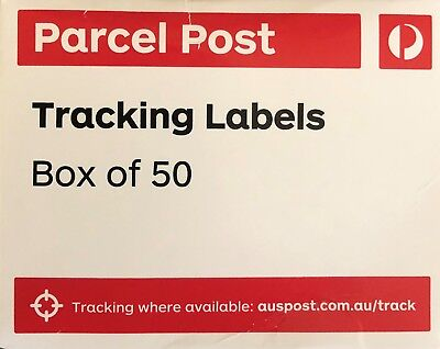 50 Australia Post Parcel Post Tracking Labels For Domestic Parcels -Free Post -F