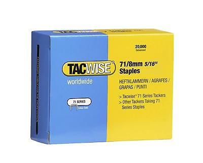 Tacwise Type 71/8mm Staples for Staple Gun - (Box of 20,000)