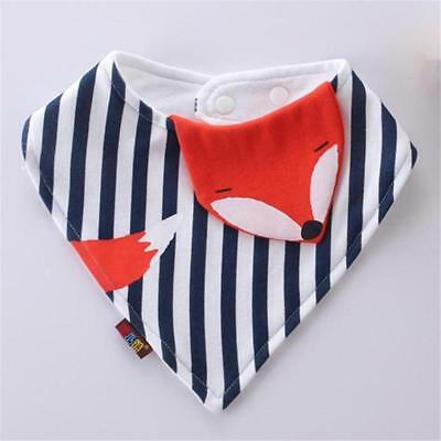 Cute Baby Bib Fox Fish Penguin Chick Teething Bib Drool Bandana Bibs FI