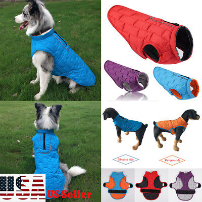 Waterproof Pet Dog Clothes Winter Warm Padded Coat Vest Jacket For Small Big Dog