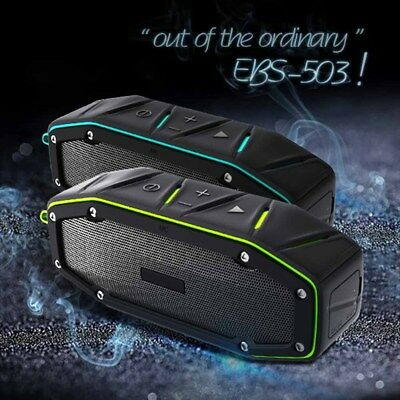 Portable Waterproof IPX6 Bluetooth Wireless Speaker 10W with Bumping Bass for Ou