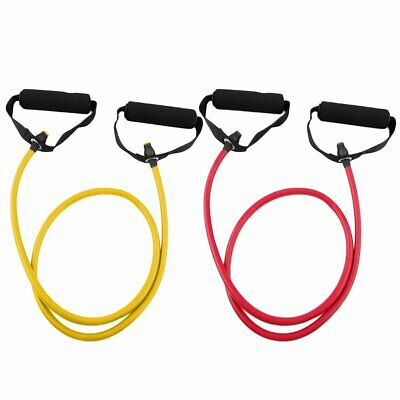 Elastic Exercise Band Yoga Pilates Workout Fitness Resistance Bands Rope Tube EA